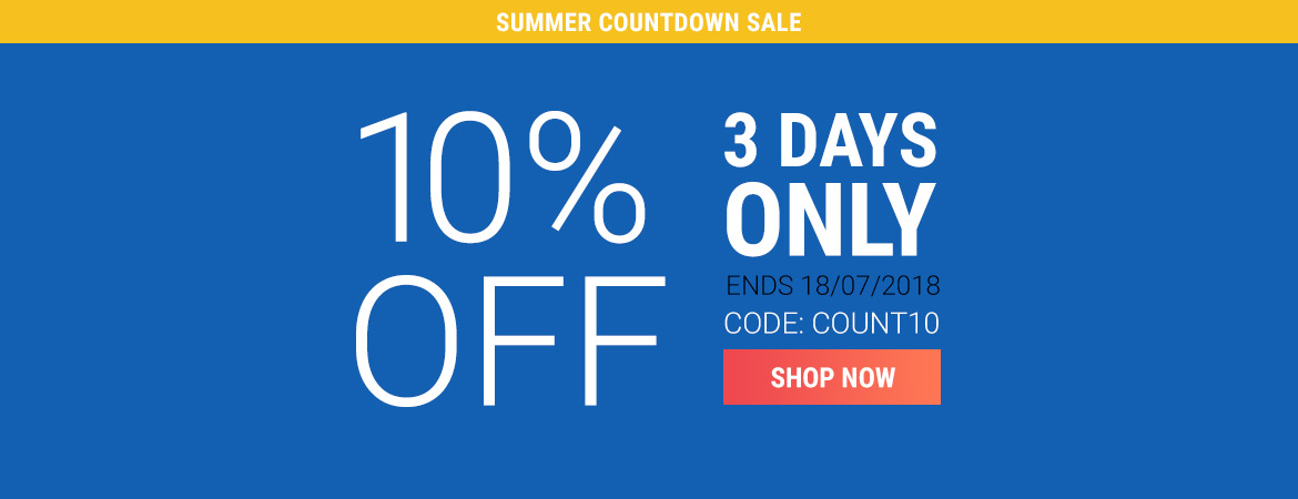 Countdown Sale: 10% off - COUNT10