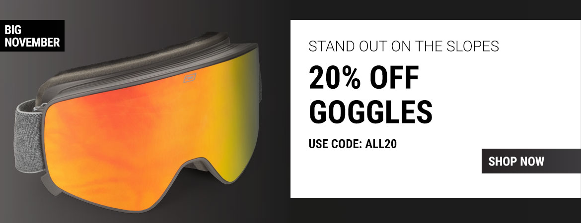 Grab 20% off goggles!