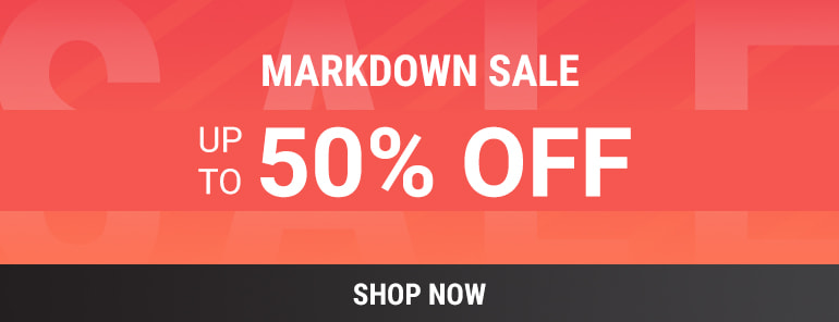 Up to 50% off Markdown