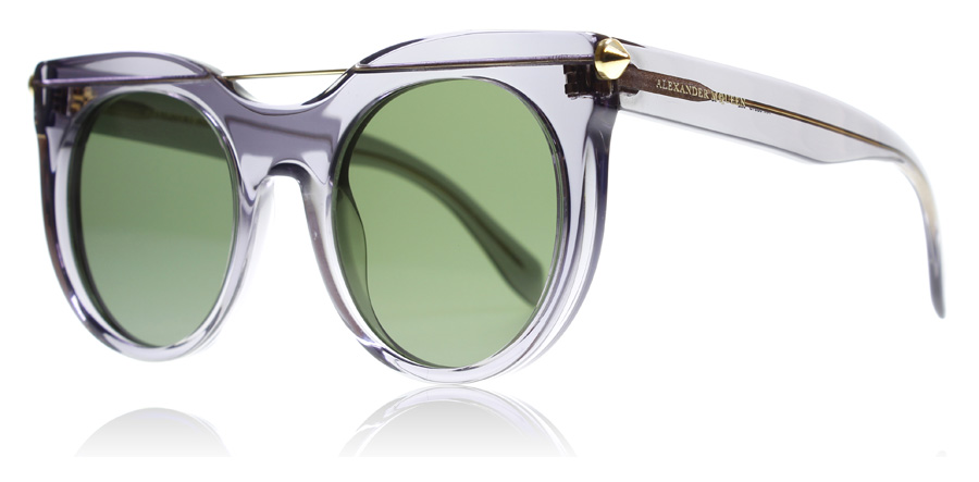 Compare retail prices of Alexander McQueen AM0001S Sunglasses Grey 002 52mm to get the best deal online