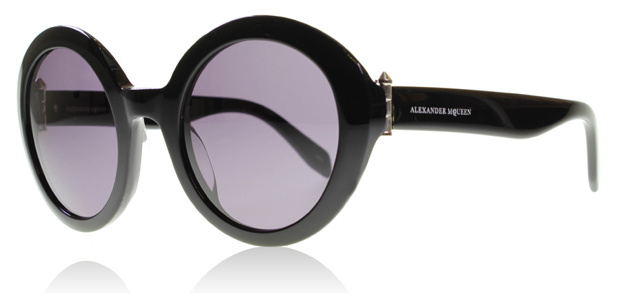 Compare retail prices of Alexander McQueen AM0002S Sunglasses Black 001 51mm to get the best deal online