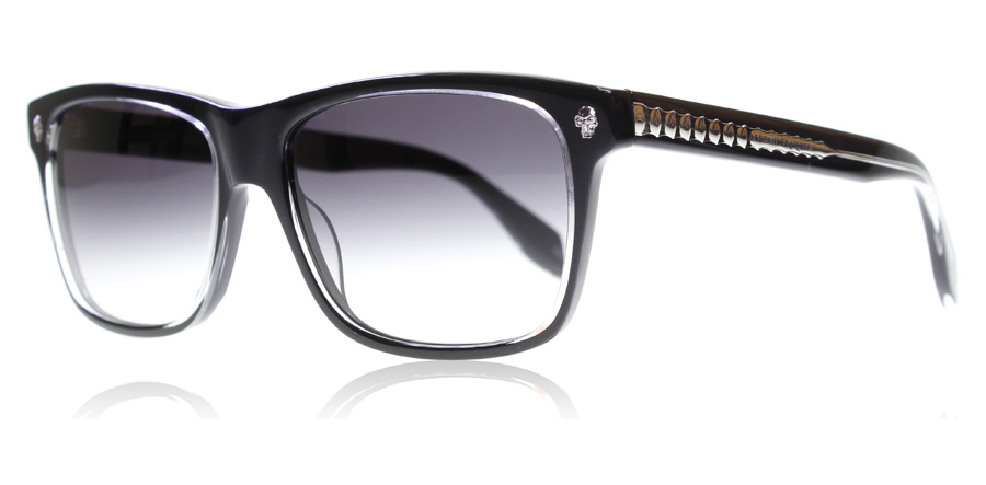 Compare prices for Alexander McQueen AM0025S Sunglasses Black Grey 001 57mm