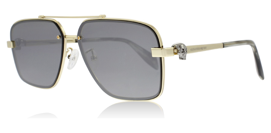Compare prices for Alexander McQueen AM0081S Sunglasses Gold 001 60mm