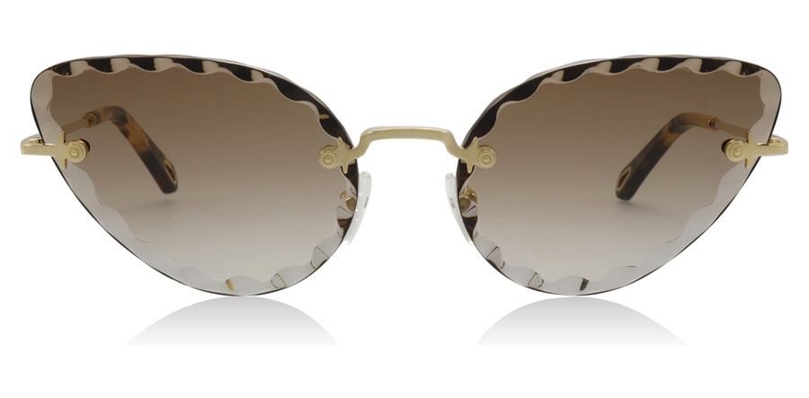 Chloé Rosie CE157s Gold / Gradient Brown 742 60mm