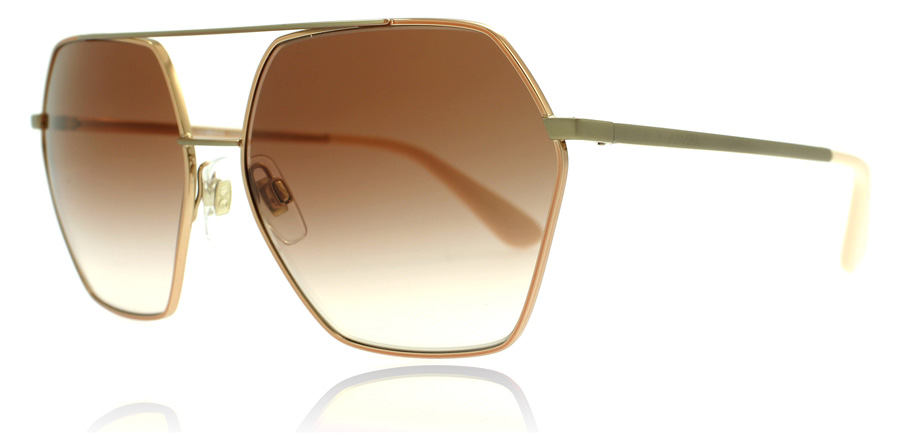 Dolce And Gabbana Gold Frame Sunglasses : Dolce And Gabbana DG2157 Sunglasses : DG2157 Pink Gold ...