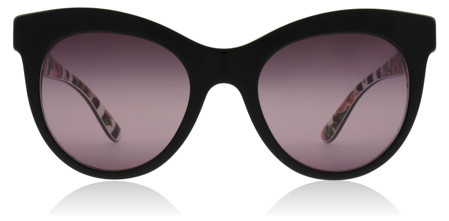 Dolce and Gabbana DG4311 Black / Print Rose 3165W9 51mm