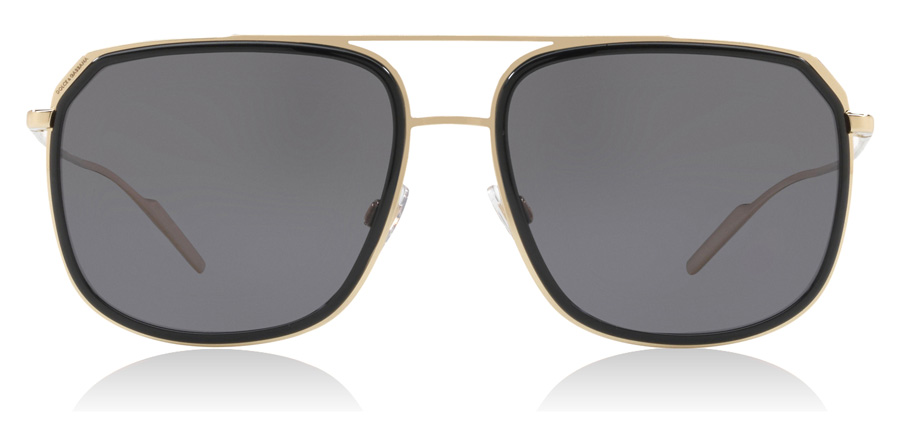 Dolce and Gabbana DG2165 Black / Pale Gold 488/81 58mm Polarised