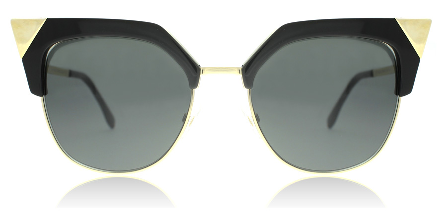 Fendi FF0149/S 0149/S Black Gold REW 54mm