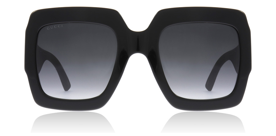 Gucci GG0102S Black / Grey 001 54mm