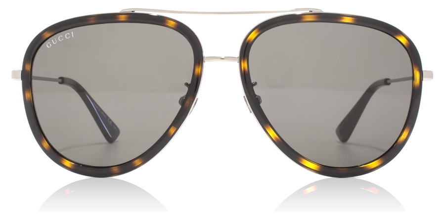 Gucci GG0062S Ruthenium / Dark Havana 002 57mm