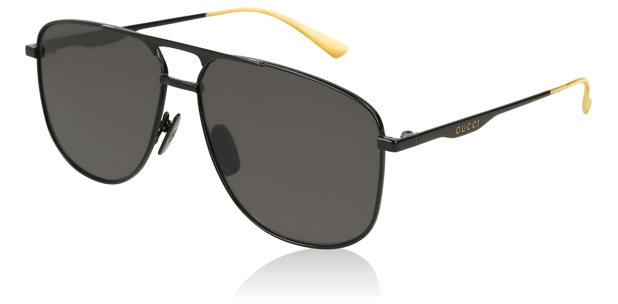 Gucci GG0336S Solid Black 005 60mm Polarised