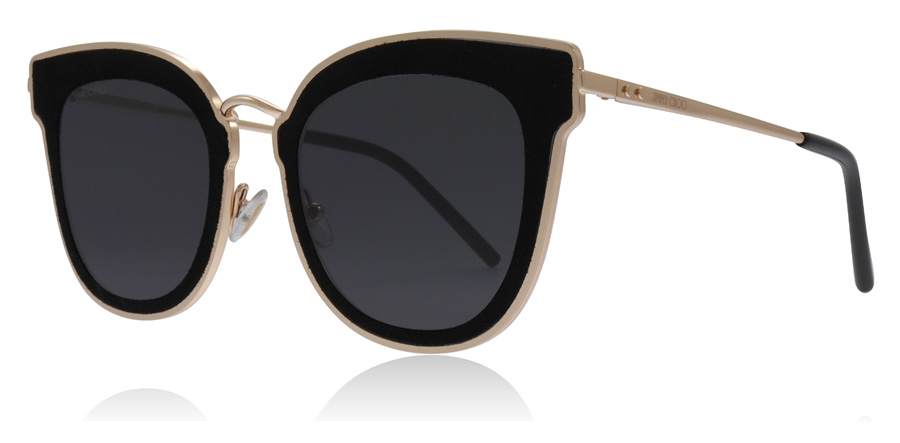 Compare prices for Jimmy Choo Nile/S Sunglasses Gold / Black RHL 63mm