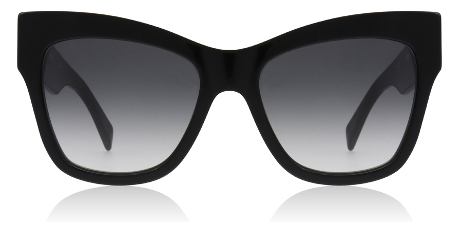 1e04512378 Moschino MOS011 S Sunglasses   MOS011 S Black MOS011 S 54Mm   UK