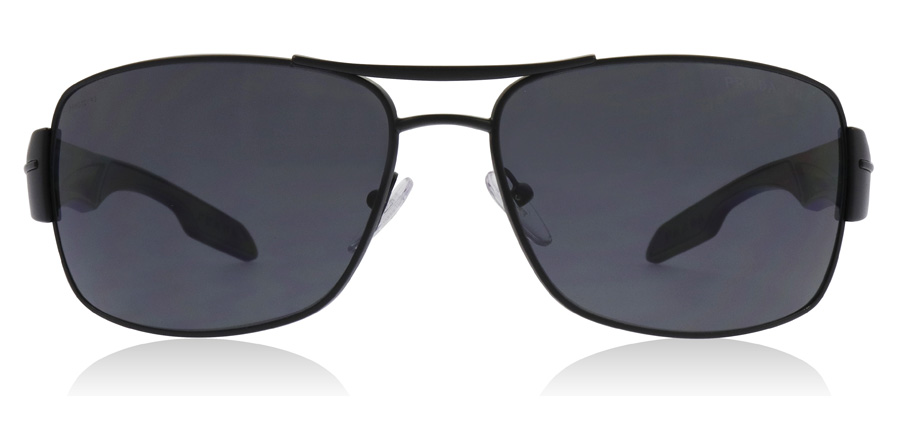 Prada Sport PS53NS Demi / Shiny Black 1BO5Z1 65mm Polarised