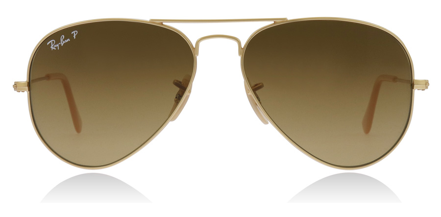 Ray-Ban Aviator RB3025 Gold Matte 112/M2 55mm Polarised