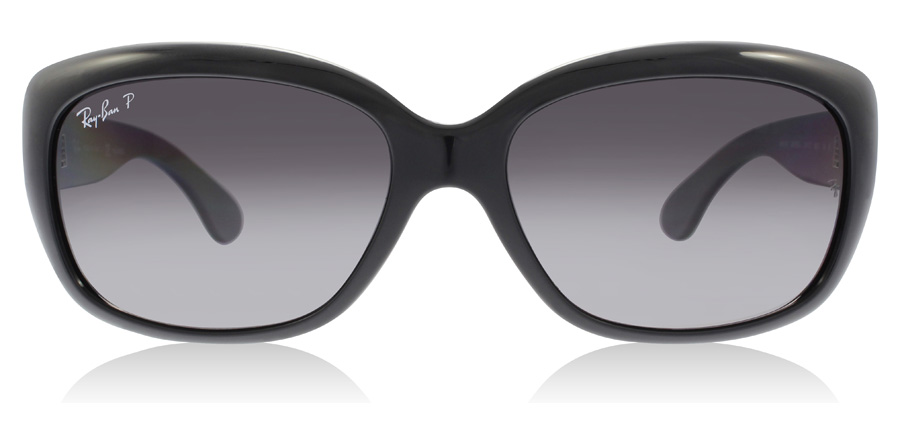 Ray-Ban Jackie Ohh RB4101 Shiny Black 601/T3 58mm Polarised