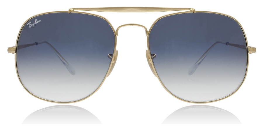 b3eabe9450 Ray-Ban RB3561 Sunglasses   RB3561 Gold Crystal Blue RB3561 57Mm   UK