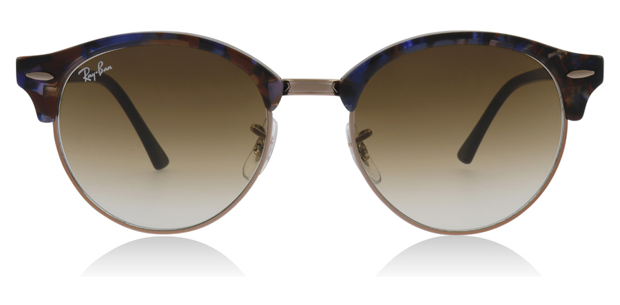 Ray-Ban RB4246 Clubround Spotted Brown / Blue 125651 51mm