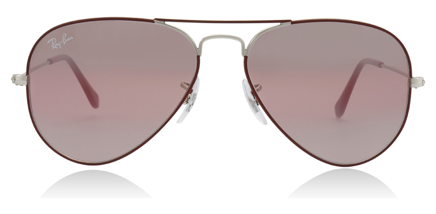 Ray-Ban Aviator RB3025 Silver / Bordeaux 9155AI 55mm