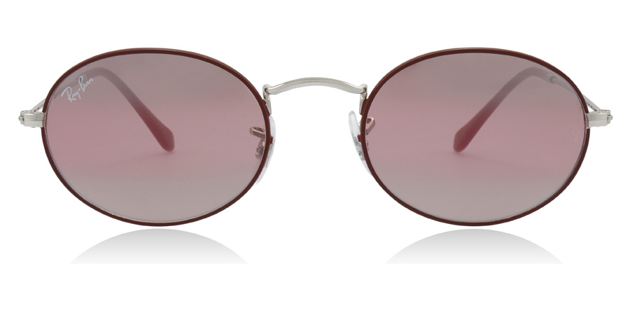 Ray-Ban Oval RB3547 Silver / Bordeaux 9155AI 51mm