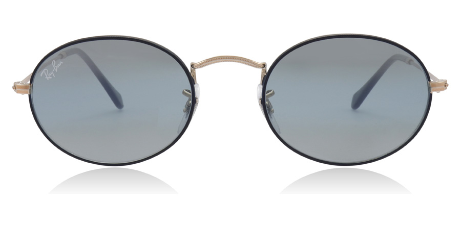 Ray-Ban Oval RB3547 Copper / Blue 9156AJ 51mm