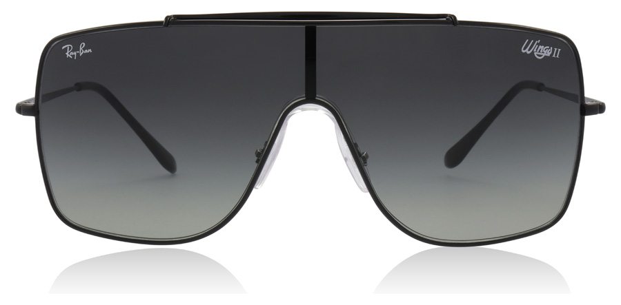 Ray-Ban Wings II RB3697 Black 002/11 35mm