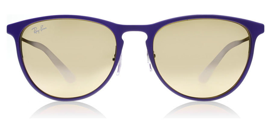 Ray-Ban Junior RJ9538S Age 8-12 Years Rubber Brown/Violet 252/2Y 50mm