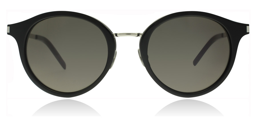Saint Laurent SL57 Black Silver Smoke 002 49mm