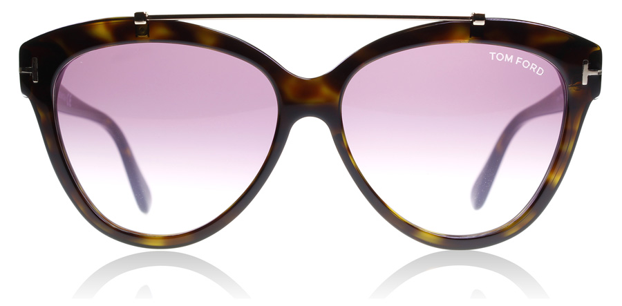 Tom Ford Livia FT0518 Shiny Dark Havana 52Z 58mm