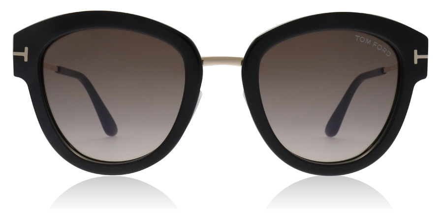 3bda7803c93 Tom Ford Mia Sunglasses   Mia Shiny Black FT0574 52Mm   UK
