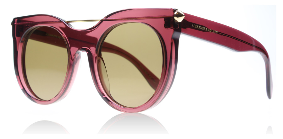 Compare retail prices of Alexander McQueen AM0001S Sunglasses Purple 004 52mm to get the best deal online
