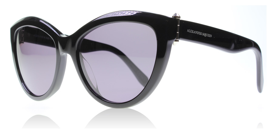 Compare retail prices of Alexander McQueen AM0003S Sunglasses Black 001 56mm to get the best deal online