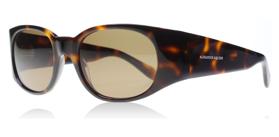 Compare prices for Alexander McQueen AM0016S Sunglasses Tortoise 002 52mm