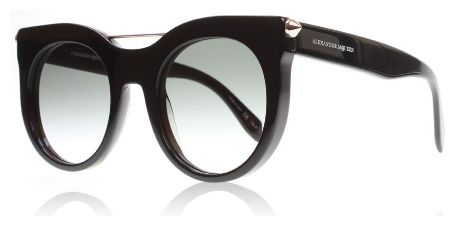 Compare retail prices of Alexander McQueen AM0001S Sunglasses Black 001 52mm to get the best deal online