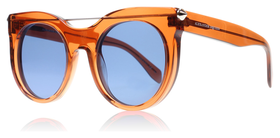 Compare retail prices of Alexander McQueen AM0001S Sunglasses Orange AM0001S 52mm to get the best deal online