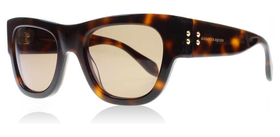 Compare prices for Alexander McQueen AM0033S Sunglasses Havana AM0033S 51mm