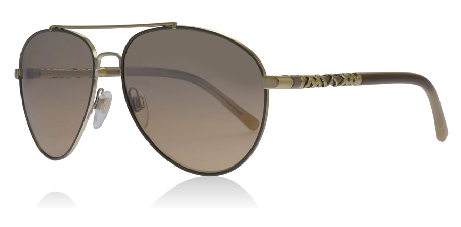 Burberry BE3084 Sonnenbrille Gold und Rosa Tortoise 105213 57mm kigBkNS
