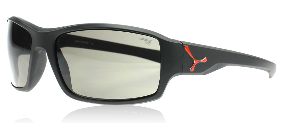 Cebe Haka Sunglasses Matte Black and Red KA
