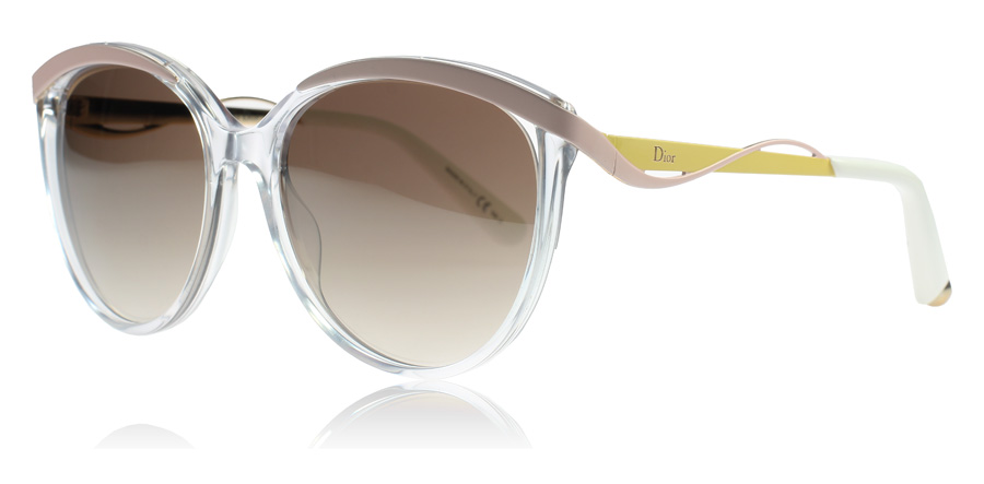Christian Dior Metaleyes1 Sunglasses Clearpinkyellow 6OB