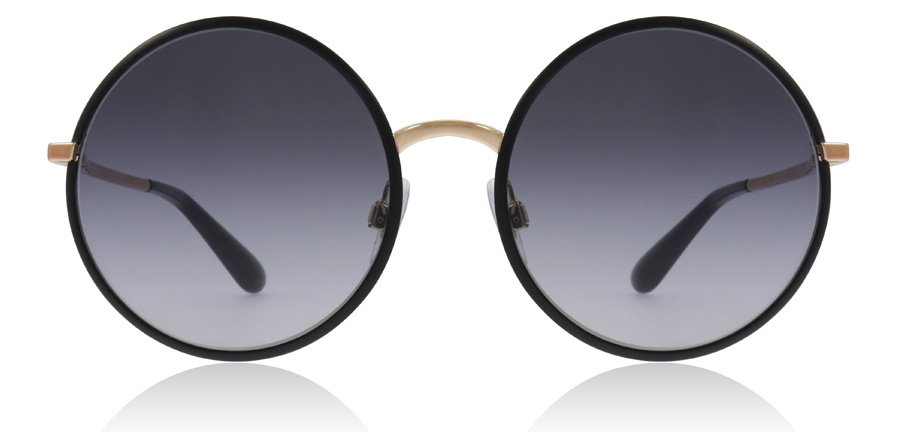 Dolce and Gabbana DG2155 Matte Black / Gold 12968G 56mm