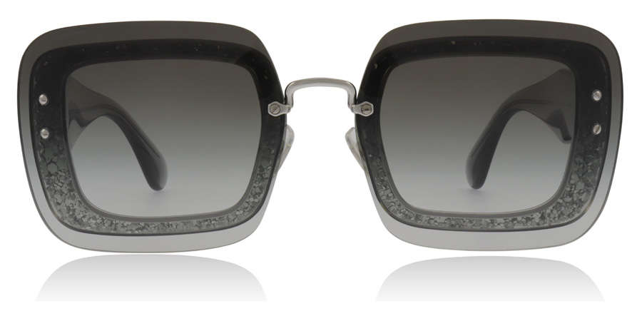 Miu Miu 01R MU01RS Transparent Grey Glitter UES0A7 67mm