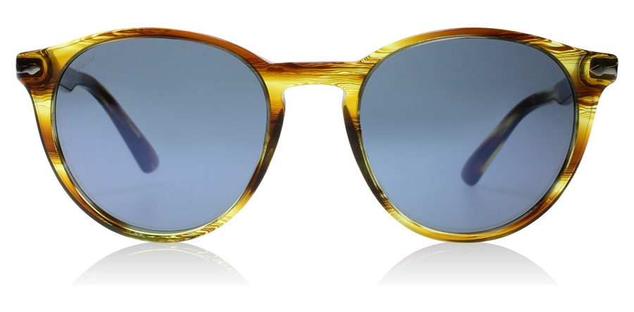 Persol PO3152S Striped Brown / Yellow 904356 52mm