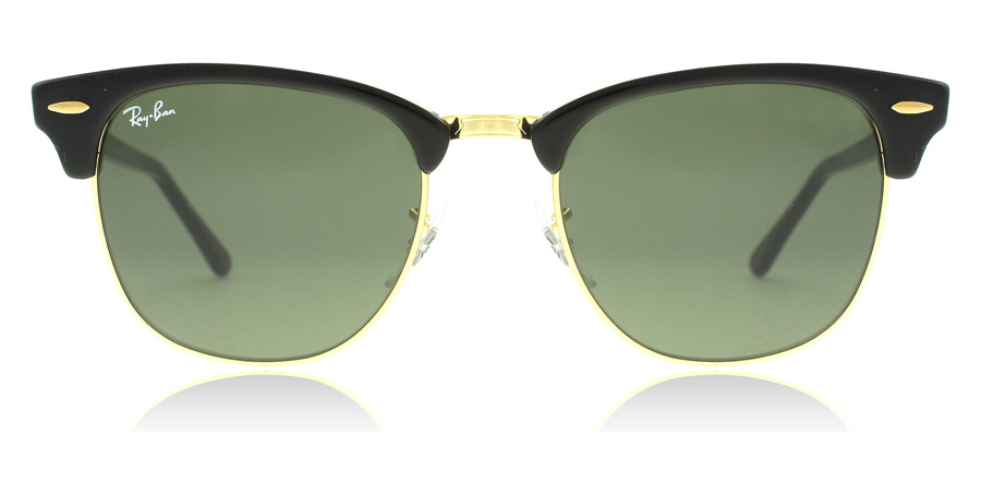 Ray-Ban Clubmaster RB3016 Black / Gold W0365 49mm