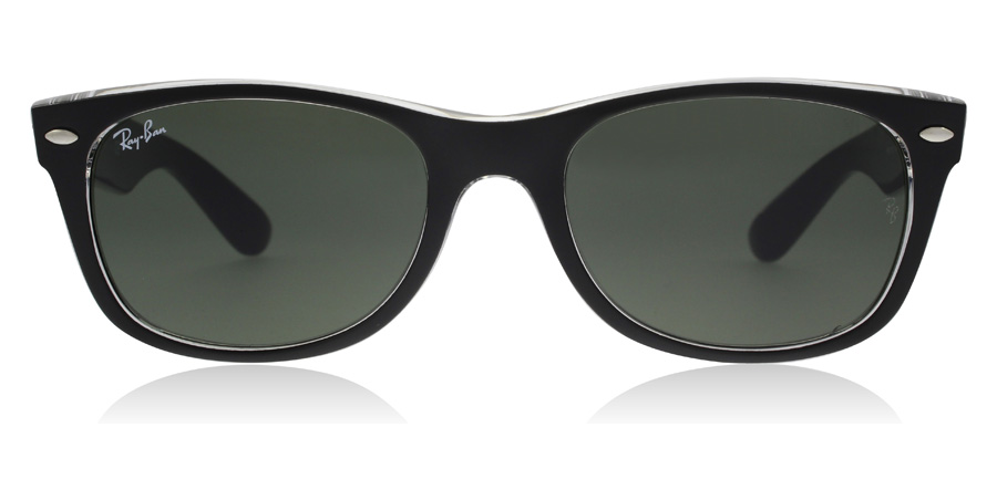 Ray-Ban New Wayfarer RB2132 Black Crystal 6052 52mm