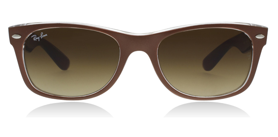 Ray-Ban RB2132 New Wayfarer Brushed Brown / Transparent 614585 55mm