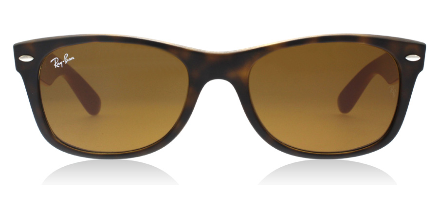 Ray-Ban RB2132 New Wayfarer Matte Tortoise / Grey 6179 52mm