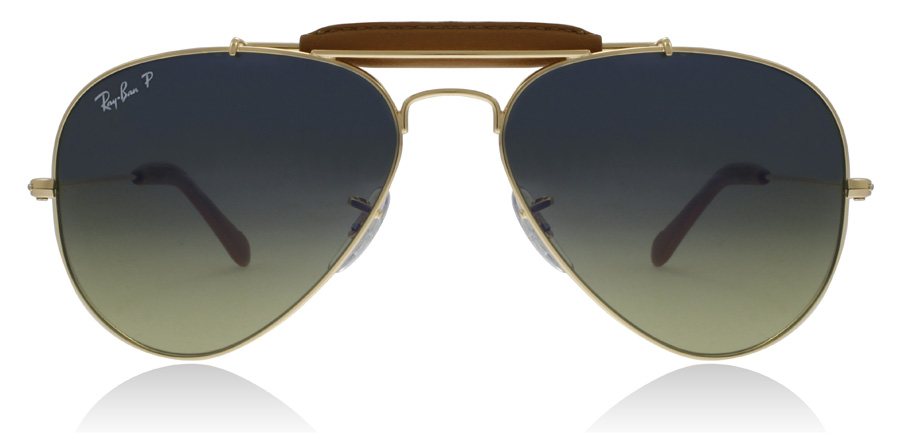 Ray-Ban RB3422Q Shiny Gold 001/M9 58mm Polarised