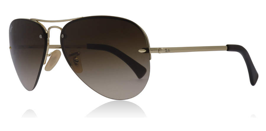 146254c04d Ray-Ban RB3449 Sunglasses   RB3449 Gold RB3449 59Mm   UK