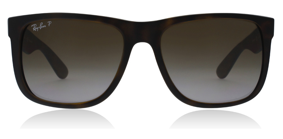 Ray-Ban Justin RB4165 Havana Rubber 865/T5 55mm Polarised