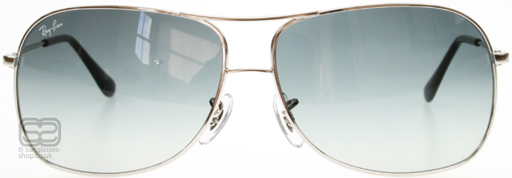 Ray-Ban RB3267 3267 Silver / Grey Gradient 003/8G 64mm